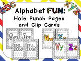 Alphabet FUN: Hole Punch Pages and Clip Cards for Preschoo