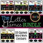 Alphabet Letter Games Word Work BUNDLE {5 UNITS - 25 GAMES}