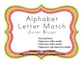 Alphabet Letter Match in Zaner Bloser