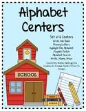 Alphabet Literacy Centers - Set of 6 Centers