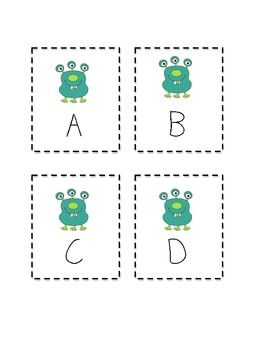 Alphabet Monster Upper Case Cards