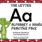 Alphabet & Music Pack - The Letter A - With Craftivity and