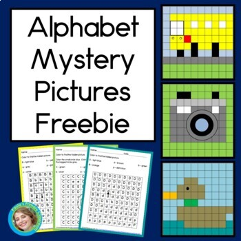 Alphabet Mystery Pictures FREEBIE