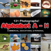 Photos Photographs ALPHABET A-N, clip art