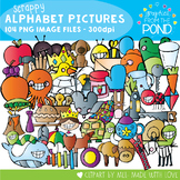 Alphabet Pictures Clipart - Scrappy Graphics From the Pond