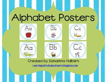 Alphabet Posters Featuring 2 Different Clip Art Designs