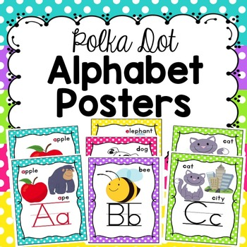 Alphabet Posters - Polka Dot Border