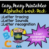 Alphabet Morning Work Pack: Alphabet Recognition and Lette