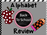 Back To School Alphabet Review