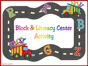 Alphabet Road Block & Literacy Center Activity
