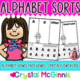 Alphabet Sort Letter Recognition Activities-30 Printables