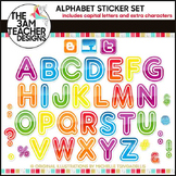 Alphabet Stickers Clip Art Set
