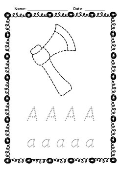 Alphabet Tracing and Pictures