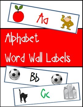 Alphabet Word Wall Labels