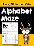 Alphabet Practice (Beginning Sounds) Trace, Write, and Color