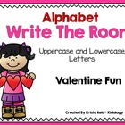 Alphabet Write The Room - Valentine Theme
