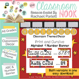 Alphabet and Number Banner {Hollywood Themed}