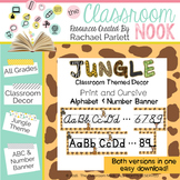 Alphabet and Number Banner {Jungle Themed}
