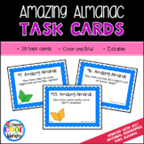 Almanac Practice Task Cards - Editable included