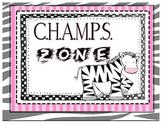 Amazing CHAMPS Posters - Safari Zebra