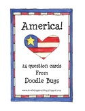 America Question Cards Game or Center