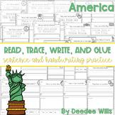 America: Read, Trace, Glue, and Draw