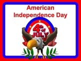 American Independence Day July Fourth Holiday Power Point Lesson