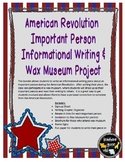 American Revolution Important Person Informational Writing