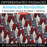 American Revolution Vol. 1: Differentiated Reading Passage
