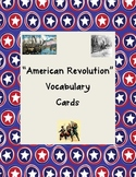 American Revolution Vocabulary Cards with Pictures