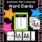 American Sign Language Word Cards Set 1 and 2