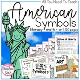 American Symbols {BUNDLE} Informational Reading, Art, and