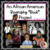"""An African-American Biography """"Book"""" Project with Research Cards"""