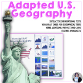 An adapted U.S.Geography book for Autism, Special Educatio