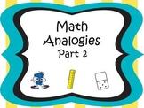 Analogies Part 2 CCSS