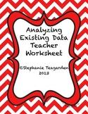Analyzing Existing Data Teacher Sheet