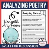 Analyzing Poetry Freebie