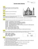 Ancient India Timeline  NO PREP