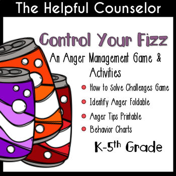 Anger Management Games & Activities Use with or w/o Soda Pop Head by Julia Cook
