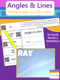 Angles & Lines Foldable Study Guide with QR Codes {Links t