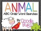 Animal ABC Order Word Searches