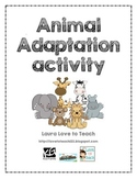 Animal Adaptation Activity