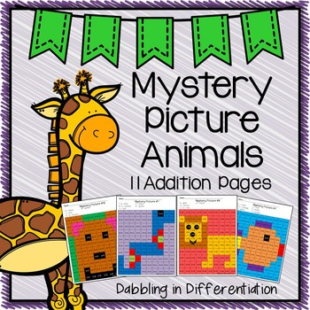 Mystery Picture Animals! {11 Addition Pages}