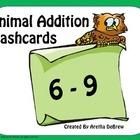 Animal Addition Flashcards 6-9