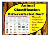 Animal Classification Cut & Paste: Sort animals by charact