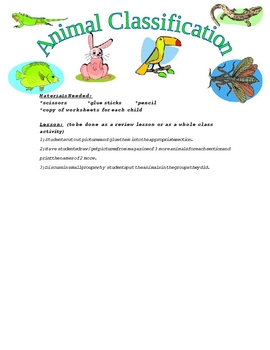 Animal Classification Review