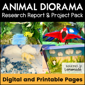 Animal Diorama and Research Report - Project Pack!