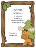 Animal Habitats Mini-Unit: balanced literacy, art & science