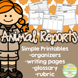 Animal Reports- Print and Go!