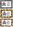 Animal Print Send back to School Labels